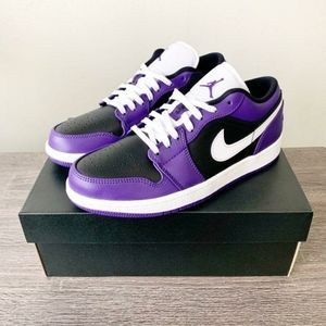 Jordan 1 Low Purple Black